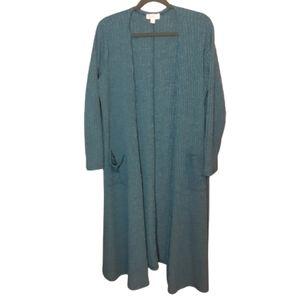 LuLaRoe long sleeve blue/green sweater dus…